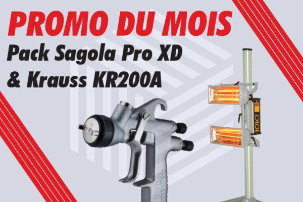 Sagola Pro XD Pistolet à peinture Krauss KR 200 A Sécheur infrarouge