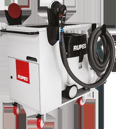 Chariot Rupes KC28 chariot pour outillage professionnel et centrale d'aspiration pour carosserie, industrie et le nautisme